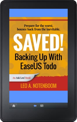 Saved! Backing Up With EaseUS Todo - Kindle