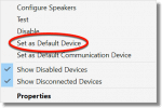 Set as default output device