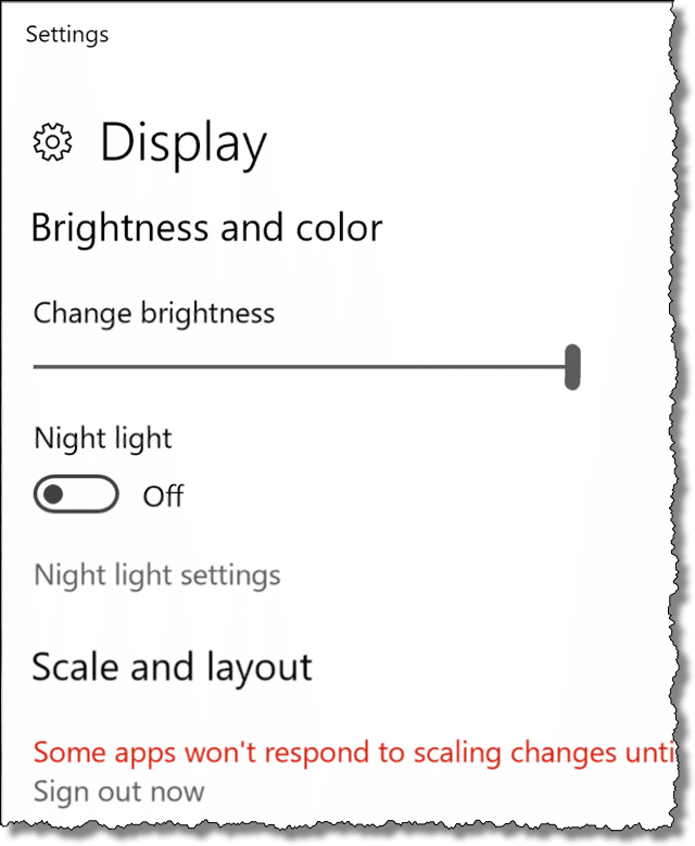 Scaled Settings