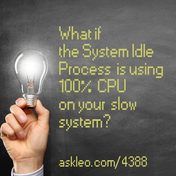 What if the System Idle Process is using 100% CPU on your slow system?