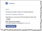 We received a request to reset your Facebook password.