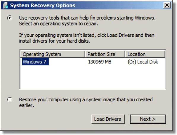 Select OS On Hard Disk