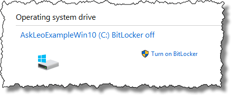 Bitlocker Off