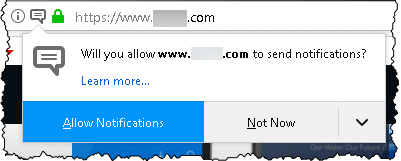 Firefox Asking