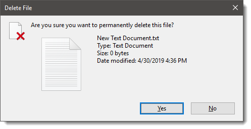 Permanently Delete File