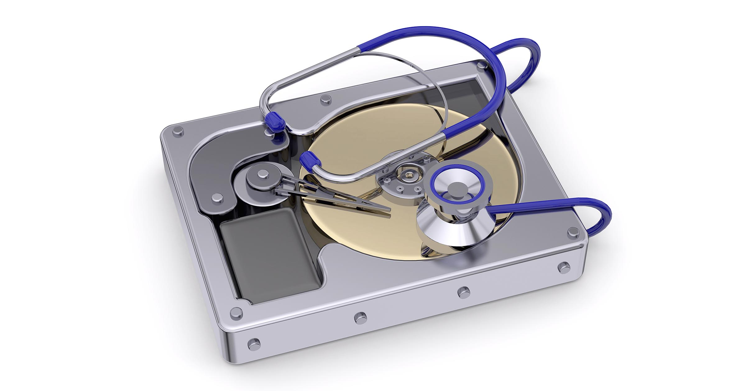 Hard disk under a stethoscope