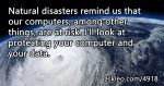 How to Protect Your Computer from Natural Disasters
