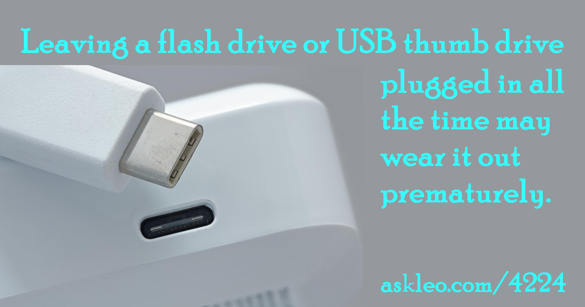 Is It Safe to Leave a Flash Drive Plugged In All the Time?