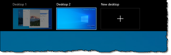 Two desktops