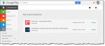 Subscriptions in the Google Play store