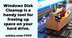 Using Windows Disk Cleanup
