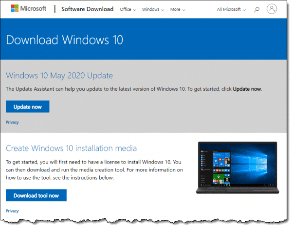 The Official Windows 10 Download Page