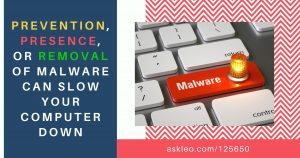 Another Reason Your Computer Might Be Slow: Prevention, Presence, or Removal of Malware