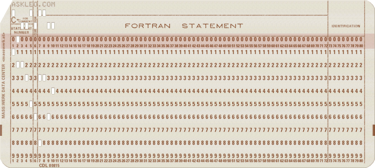askleo.com on a punch card