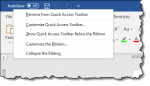 Quick Access Toolbar in Microsoft Word
