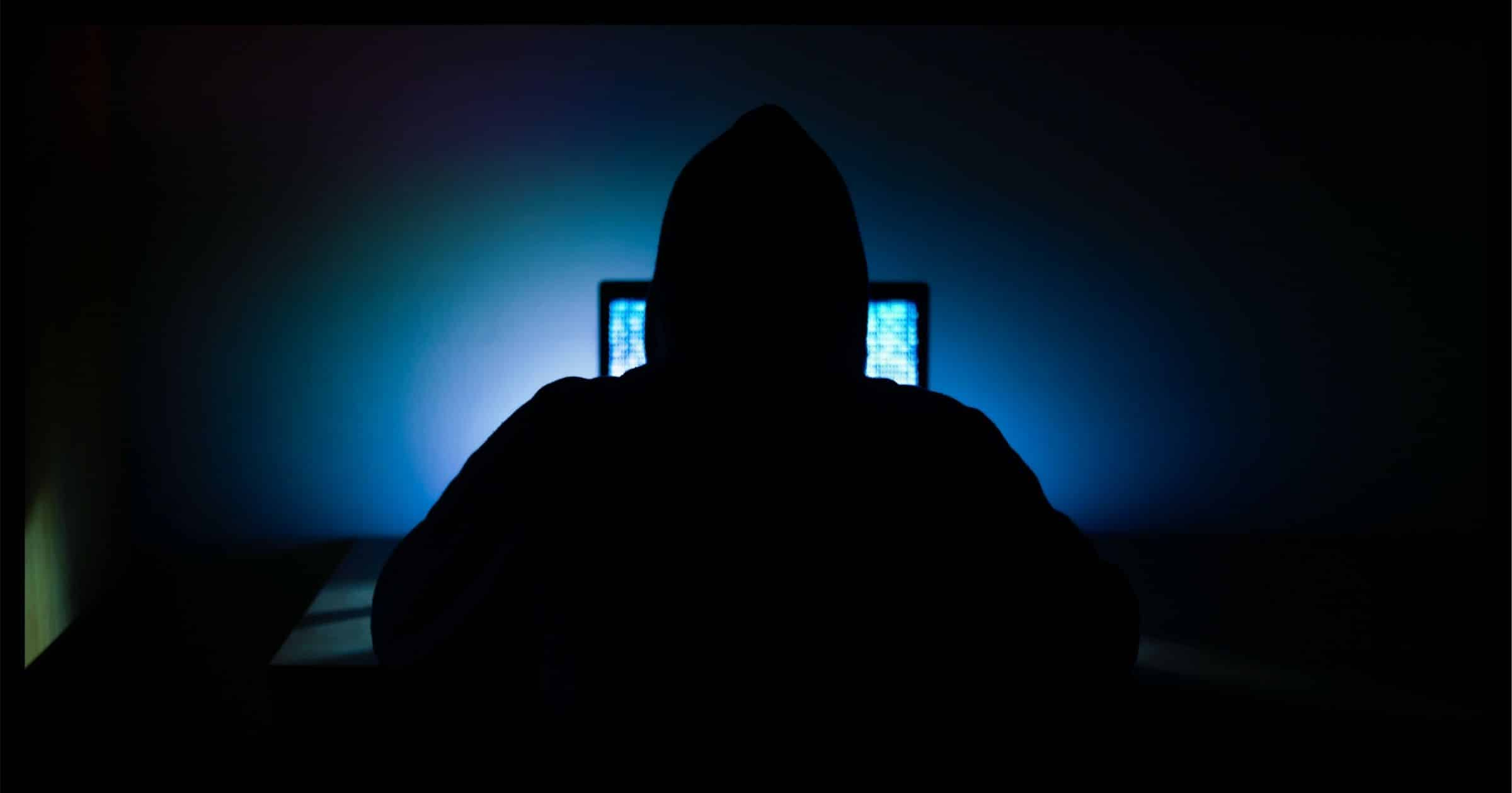 Sereotypical Hooded Hacker Image