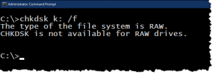 """What Does """"CHKDSK Is Not Available for RAW Drives"""" Mean?"""